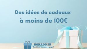 idée cadeaux moins 100 euros